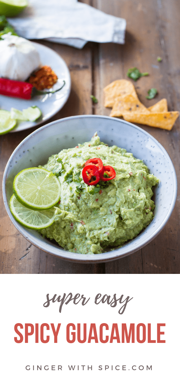 Easy Guacamole Recipe Pinterest Pin