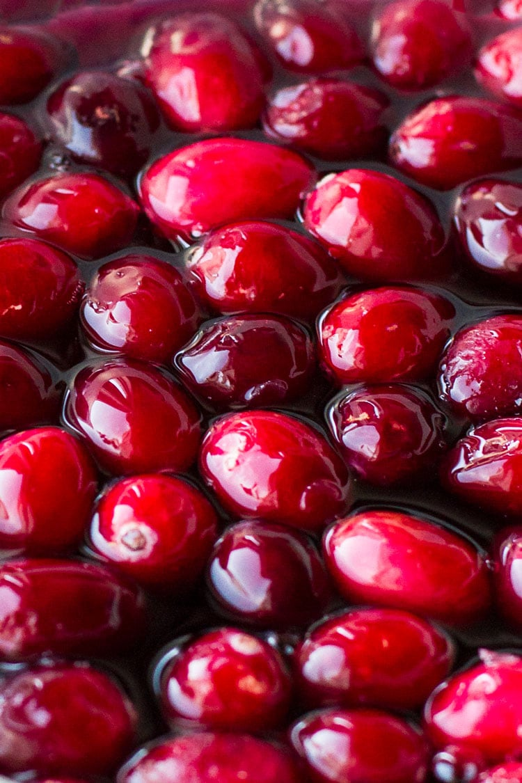 Close-up of fresh cranberries.