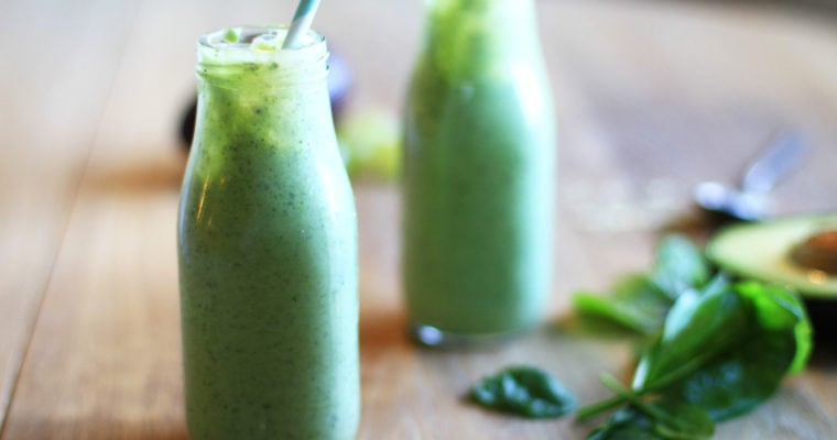 Energizing Green Smoothie with Grapes and Avocado