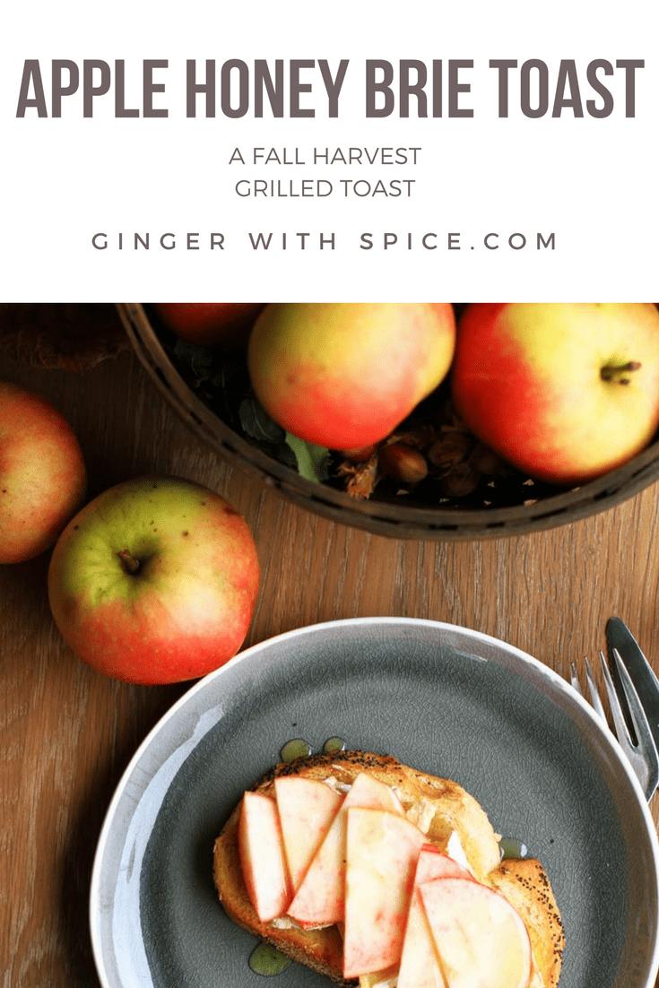 Apple Honey Brie Toast