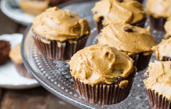 Chocolate Coffee Cupcakes with Irish Baileys Frosting