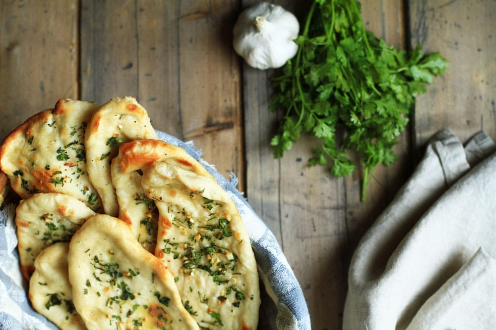 Garlic Cilantro Naan - Ginger with Spice