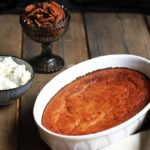 Healthy Spiced Pumpkin Soufflé with Maple Pecans and Cream Cheese