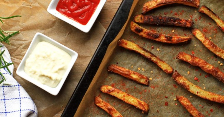 Rosemary Fries with Garlic Cream Cheese Dip
