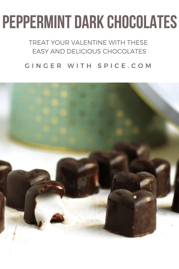 Peppermint Dark Chocolates