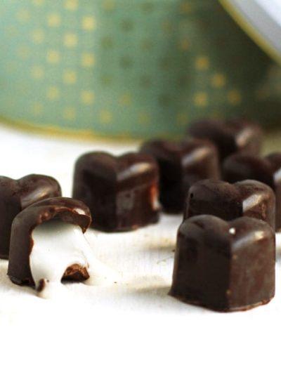 Peppermint Dark Chocolates for Valentine's Day