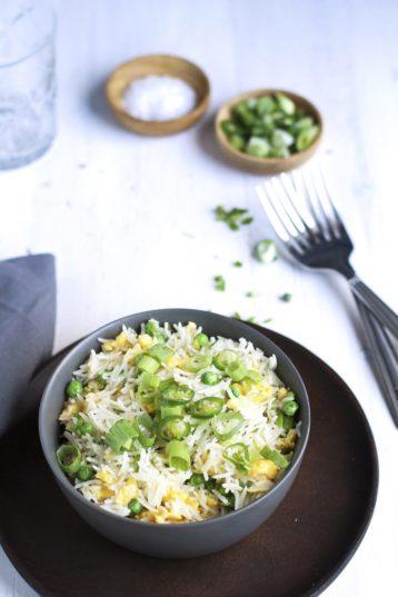 Chinese Sesame Fried Rice (Vegetarian)