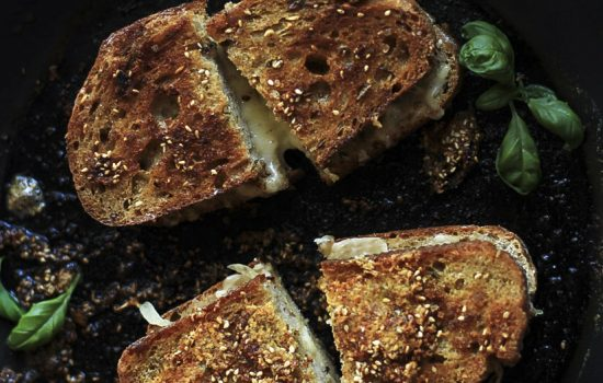 Everything Spice and Parmesan Crusted Grilled Cheese