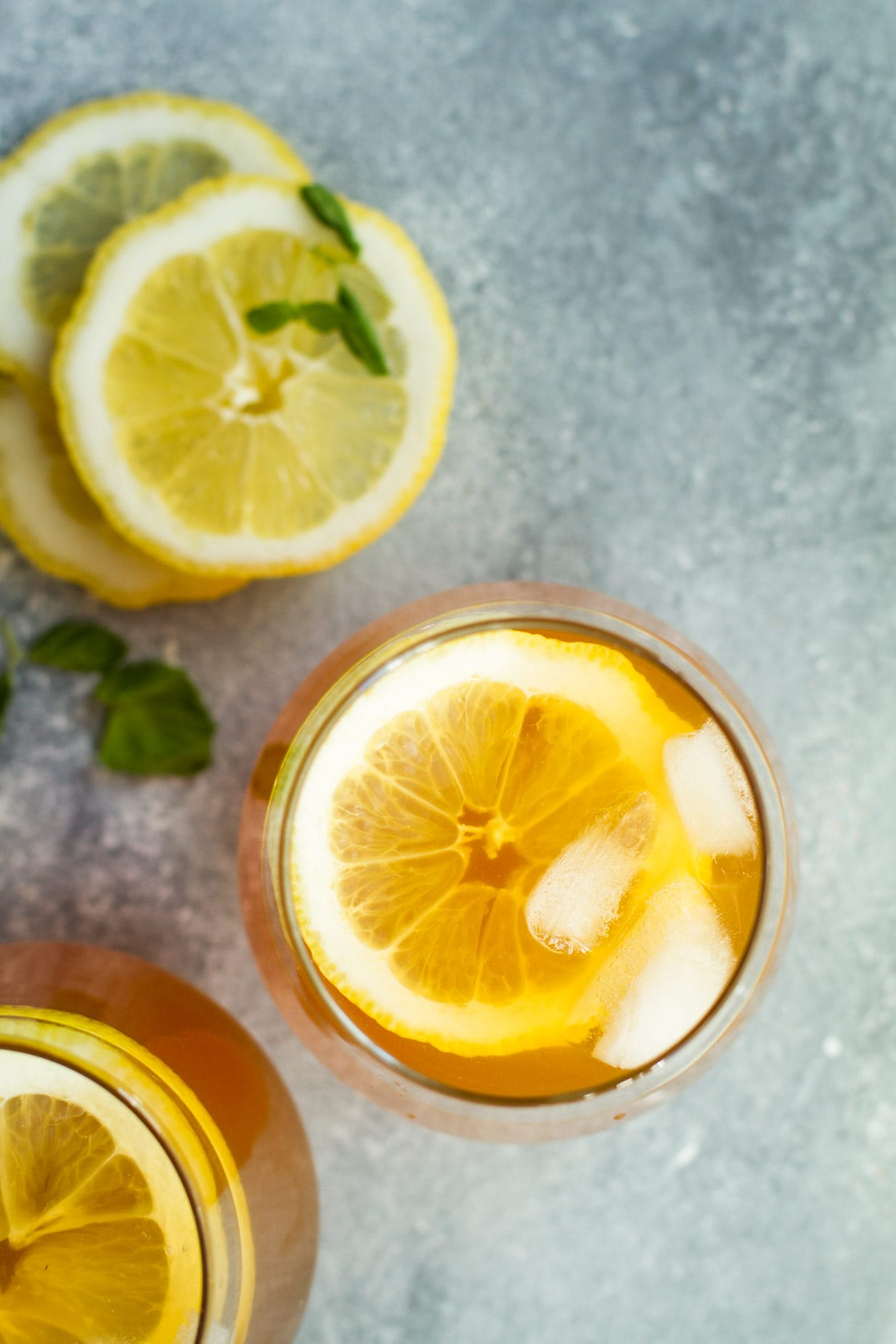 Ginger Lemon Iced Tea Ginger With Spice