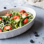 Strawberry Arugula Summer Salad with Lemon Vinaigrette and Lavender