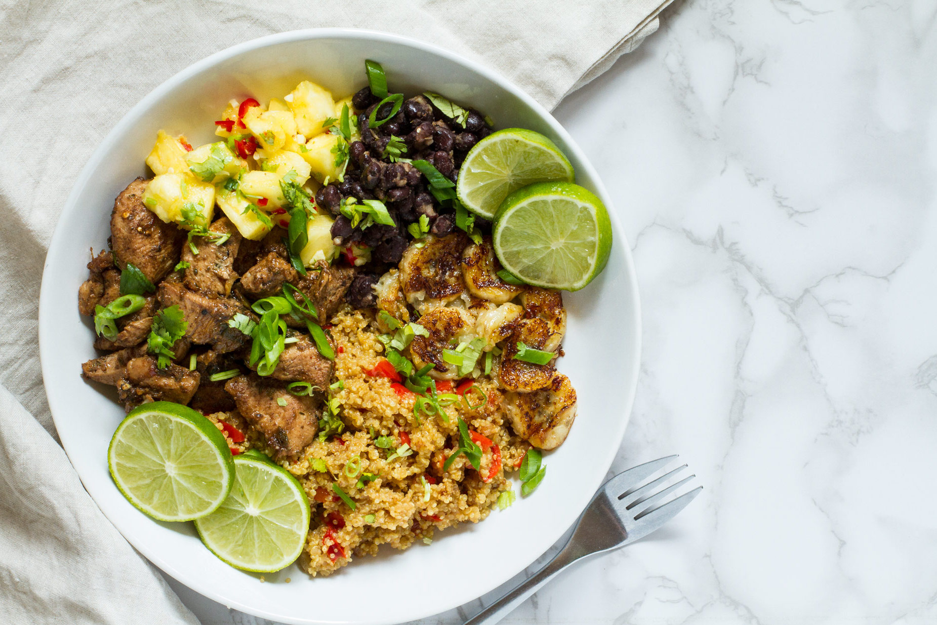 Jamaican Jerk Chicken Quinoa Bowl