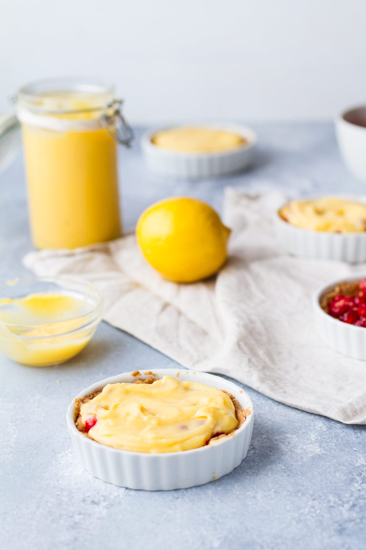 Red Currant and Lemon Curd Brûlée Tart