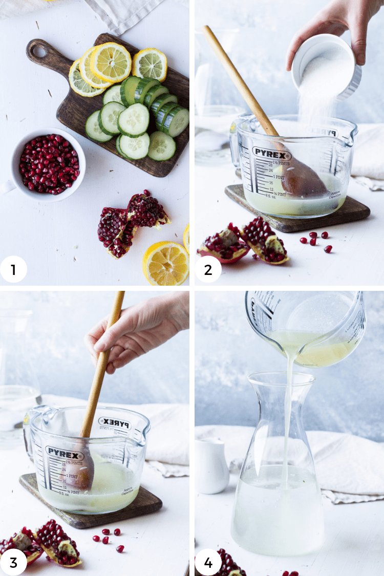 instructions to make vodka lemonade.