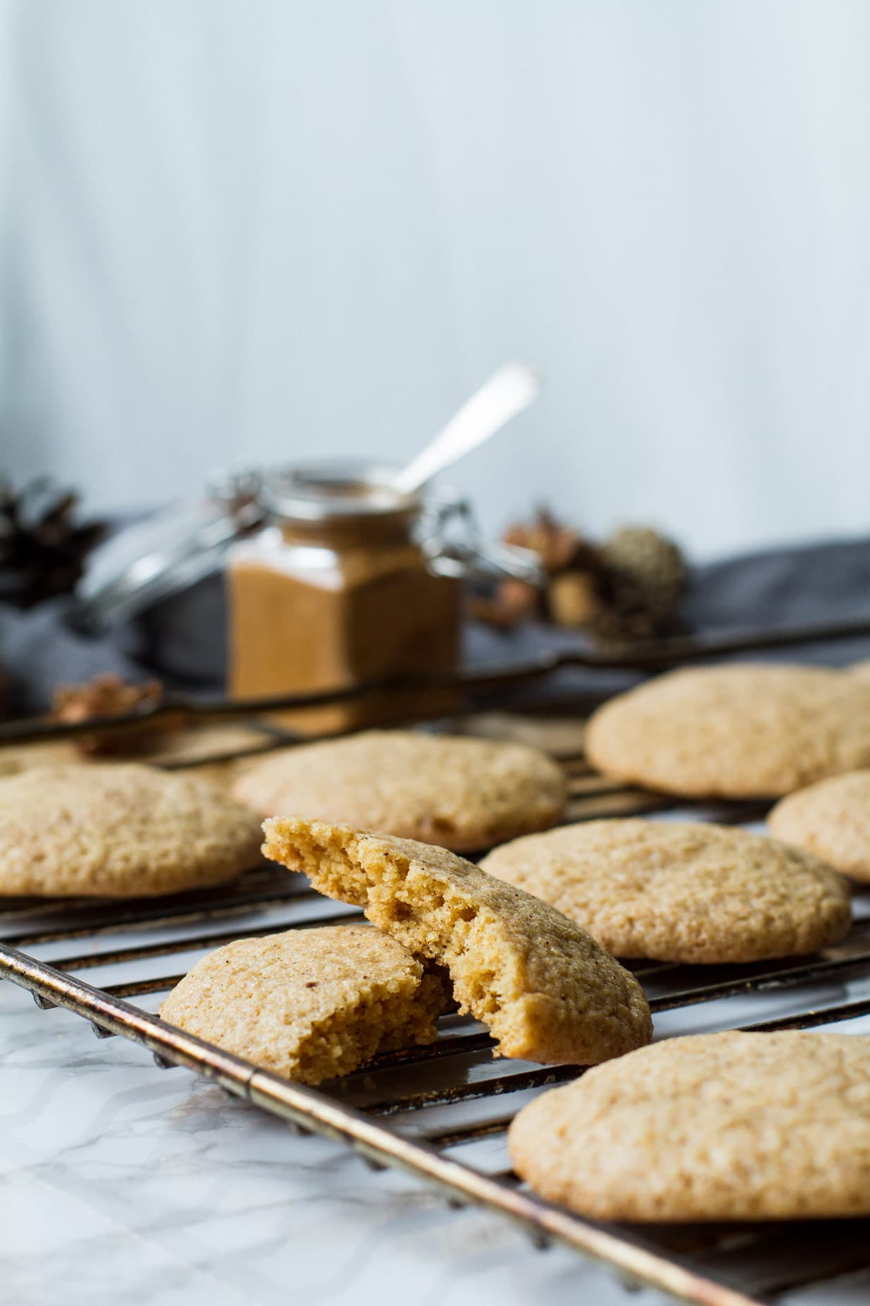 Soft and Chewy Pumpkin Snickerdoodle Cookies