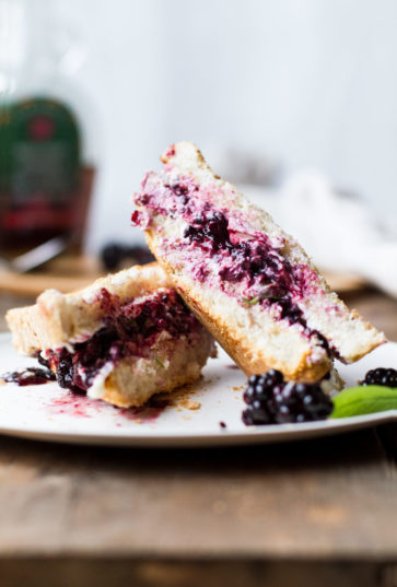 Balsamic Blackberry Basil Grilled Cheese