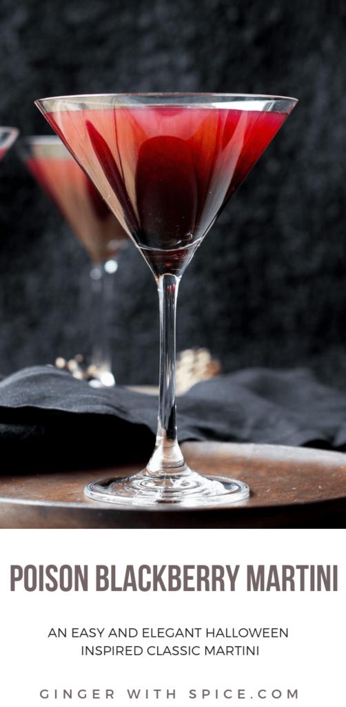 Poison Blackberry Martini