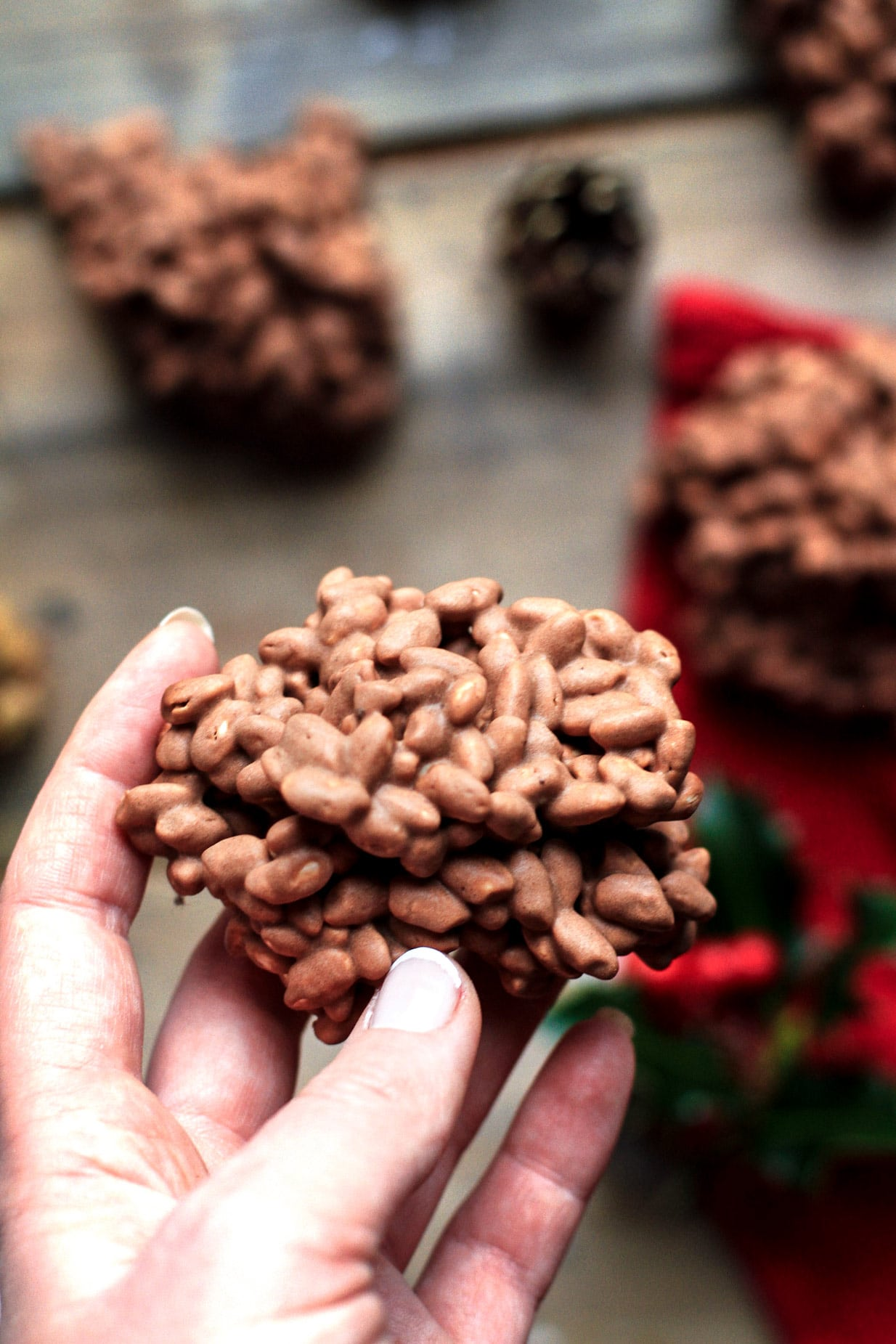 Easy Christmas Chocolate Rice Puffs