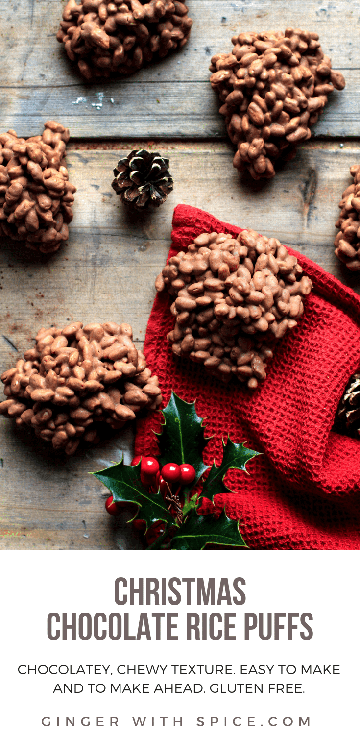 Easy Christmas Chocolate Rice Puffs