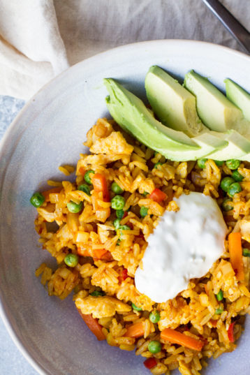 Mexican Fried Rice with Chipotle and Turmeric
