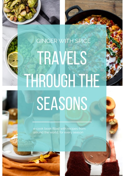Travels Through The Seasons cover of e-cookbook