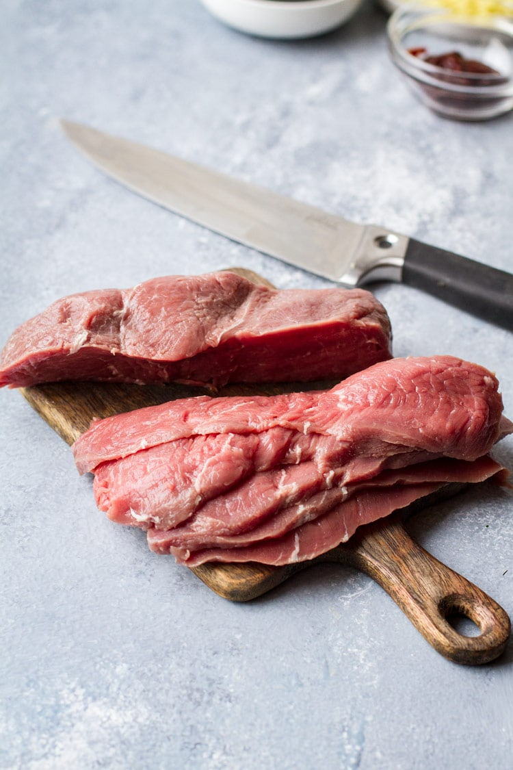 How to cut beef for bulgogi.