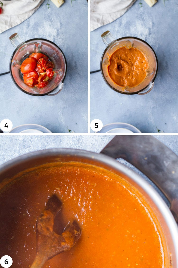 How to make roasted tomato soup steps.