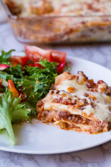 Easy Homemade Lasagna with Béchamel Sauce
