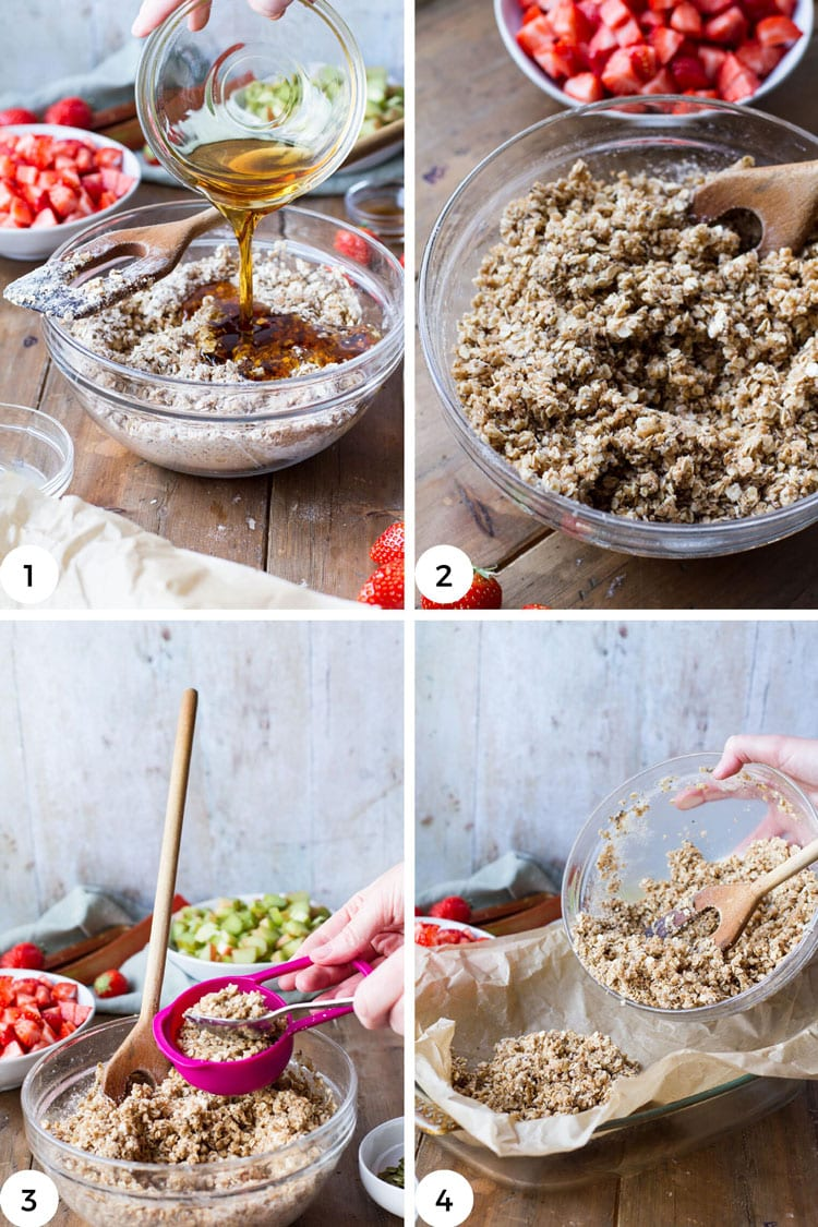 Steps to make the oat mixture.