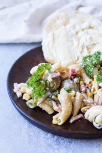 Creamy Pasta Salad with Chorizo (+ Non-Creamy Style!)