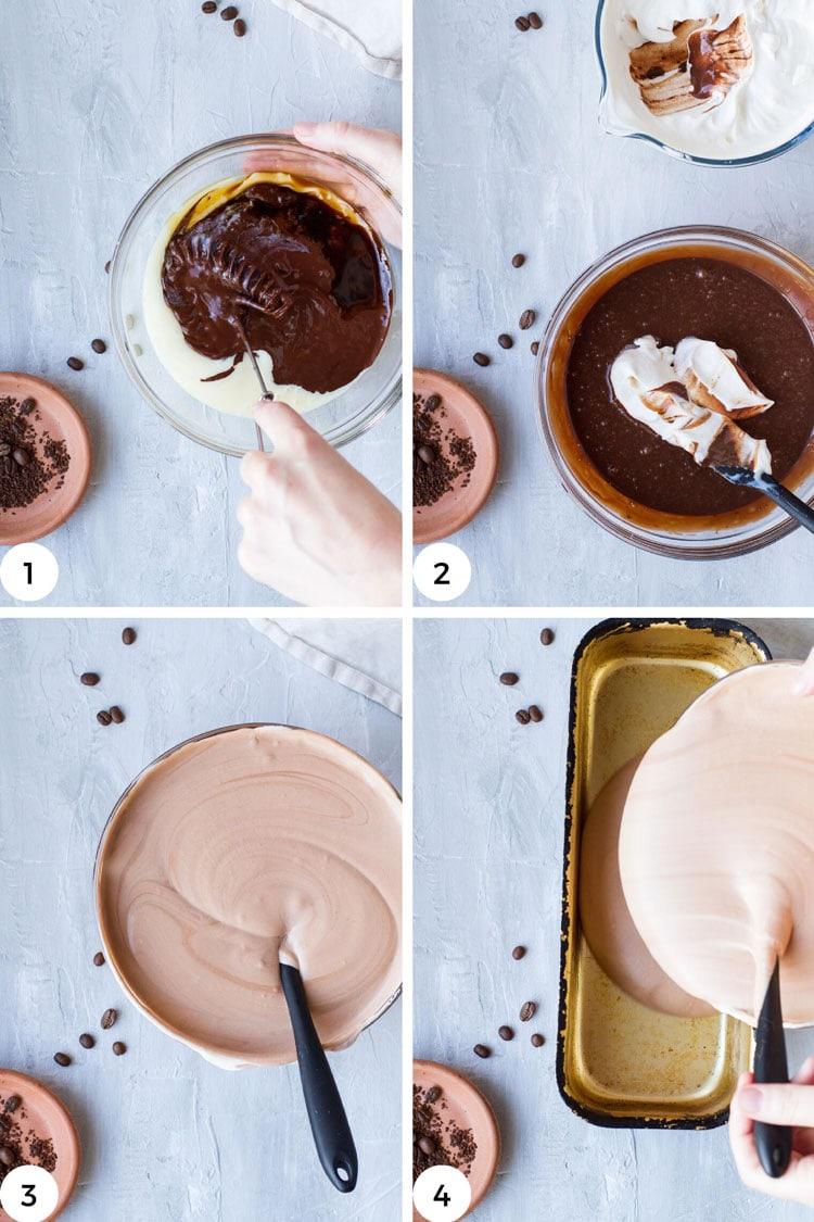 Steps to make no churn ice cream.