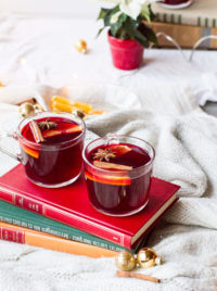 Scandinavian Mulled Wine (Gløgg + Non-Alcohol Version)